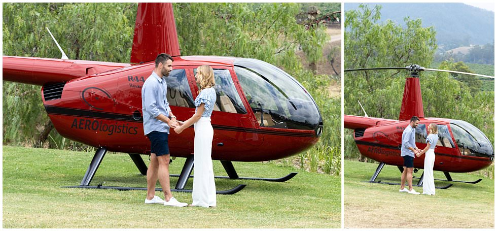 ArtyJ Photography | Slattery Helicopters, Summer Proposal, Proposal, Pokolbin, NSW, Hunter Valley, Photography | Sally & Jarrad | Proposal